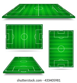 vector illustration of football field. soccer