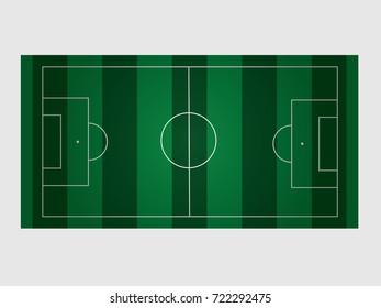 Vector illustration of a football field. Stock vector