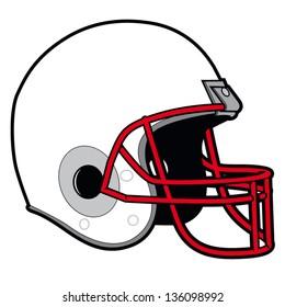 Vector illustration of football helmet