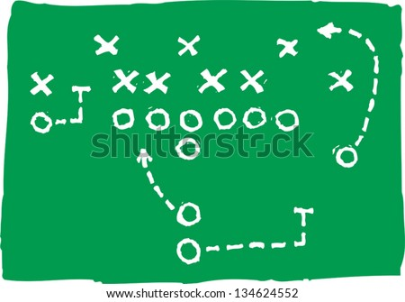 Vector illustration of Football Play