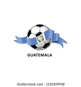 Vector Illustration of a Football – Soccer ball with the Guatemala flag