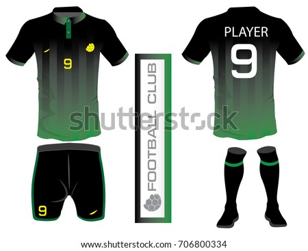 Vector Illustration Of Football T Shirt Template Soccer Kit Or Jersey For