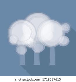 Vector illustration, Forest on blue background