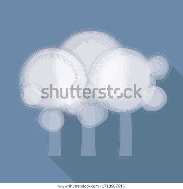 Illustration vectorielle, Forêt sur fond bleu