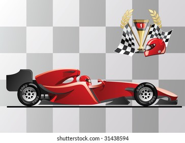 Vector Illustration Of Formula 1