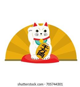 Vector illustration of fortune cat