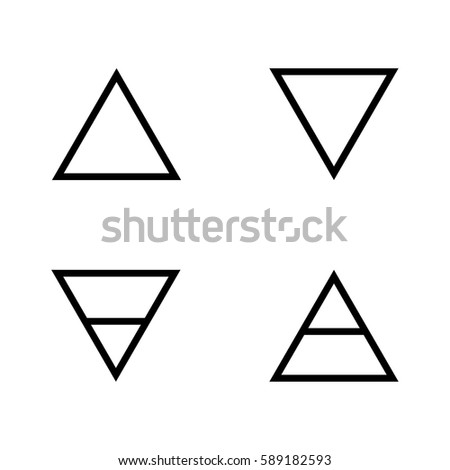 Vector Illustration Four Elements Icons Line Stock Vector Royalty