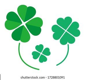Vector illustration of a four-leaf clover