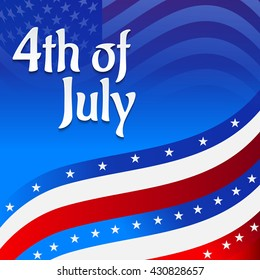 Vector illustration of Fourth July USA Independence Day.