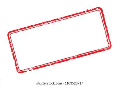 Vector illustration frame of rubber stamp