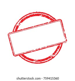 Vector illustration frame of rubber stamp