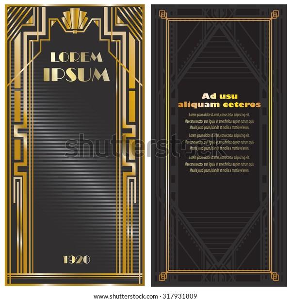 Vector Illustration Frames Invitation Cards Templates Stock Vector ...