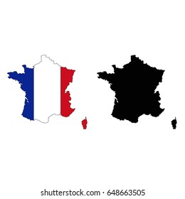France Map Flag.France Map Flag Stock Vector Royalty Free 544956823 Shutterstock