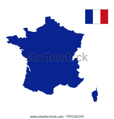 France Map Flag.Vector Illustration France Map Flag Stock Vector Royalty Free