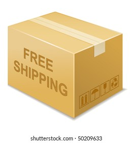 vector illustration of free shipping icon