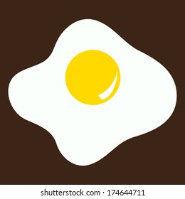 Vector illustration with fried eggs