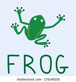 Vector illustration with frog