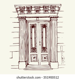 Front Door Drawing To Vector Illustration Of The Front Door In Old City Center Drawn Sketch Style Front Door Drawing Images Stock Photos u0026 Vectors Shutterstock