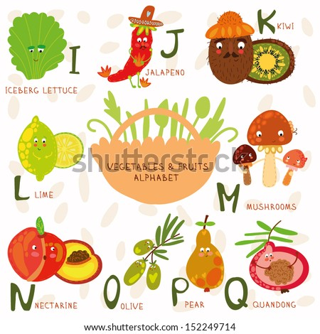 food that starts with the letter u vector illustration fruit vegetables a b stock vector 21760