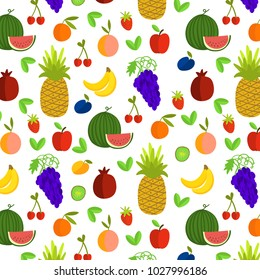 Vector illustration of fruits seamless pattern for background