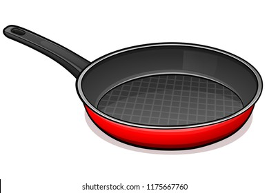 Vector illustration of frying pan design concept