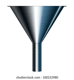 Vector illustration of funnel