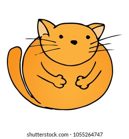 Fat Cat Cartoon Images Stock Photos Vectors Shutterstock