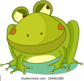 Vector illustration of a funny frog