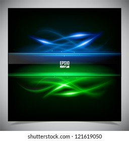 Vector illustration of futuristic color abstract glowing background