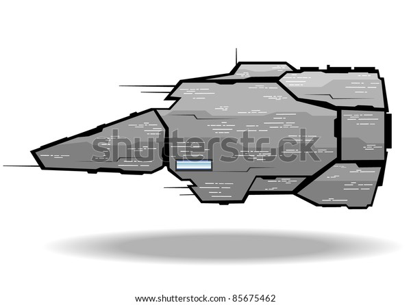 vector illustration of futuristic spaceship.vector 5