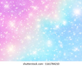 Vector illustration of galaxy fantasy background and pastel color. EPS 10.
