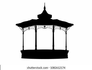 Vector illustration of a gazebo
