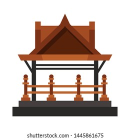 Vector illustration of gazebo and nature sign. Collection of gazebo and architecture vector icon for stock.