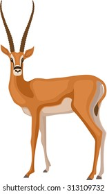 Vector Illustration of a Gazelle