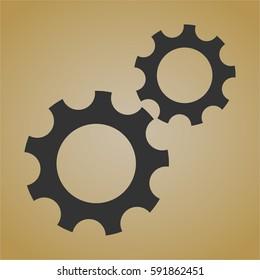 vector illustration Gear (Team work) vector icon