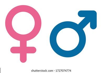 Vector illustration of gender symbols (male and female)