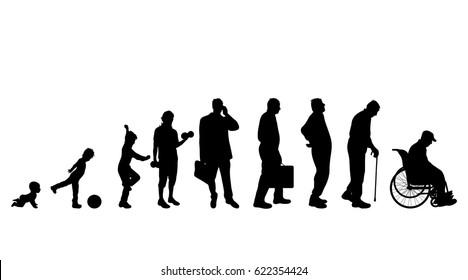 Vector illustration of generation of man.