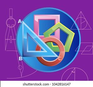 Vector illustration of geometric shapes