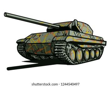 Vector illustration of German battle tank