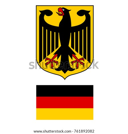 Vector Illustration German Coat Arms Eagle Stock Vector Royalty