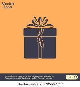 Vector illustration of gift box
