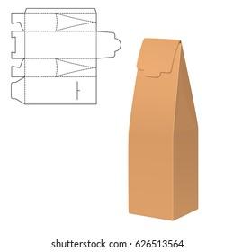 Illustration Gift Die Cut Craft Box Stock Illustration Royalty