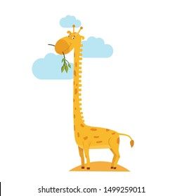 vector illustration of a giraffe with a long neck
