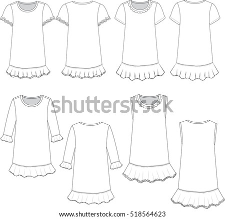 vector illustration girls dress templates stock vector royalty free
