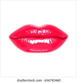 vector illustration of a glamour sensual female lips