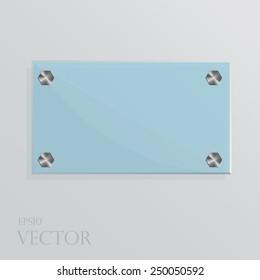 Vector illustration of glass plate