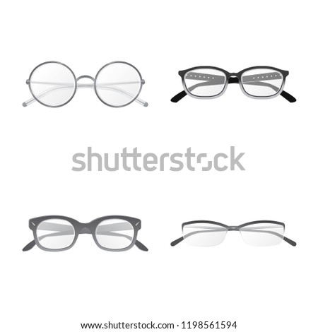847a0c6ff3ad Vector illustration of glasses and frame icon. Collection of glasses and  accessory vector icon for stock. - Vector