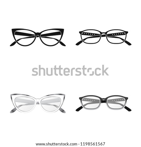 50347d1922ae Vector illustration of glasses and frame sign. Collection of glasses and  accessory stock vector illustration