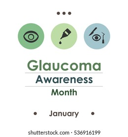 vector illustration  for glaucoma vision month  in january