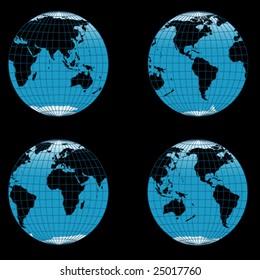 "vector illustration ""globe"""